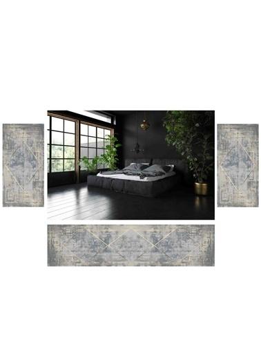 Soley Lateks Süngerli Yatak Odası Halı Seti Renkli